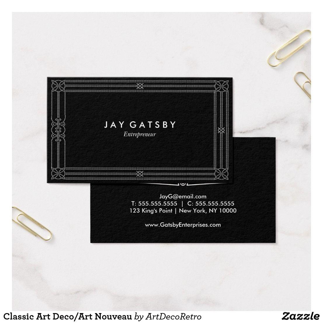 Classic Art Deco/Art Nouveau Business Card | Business cards