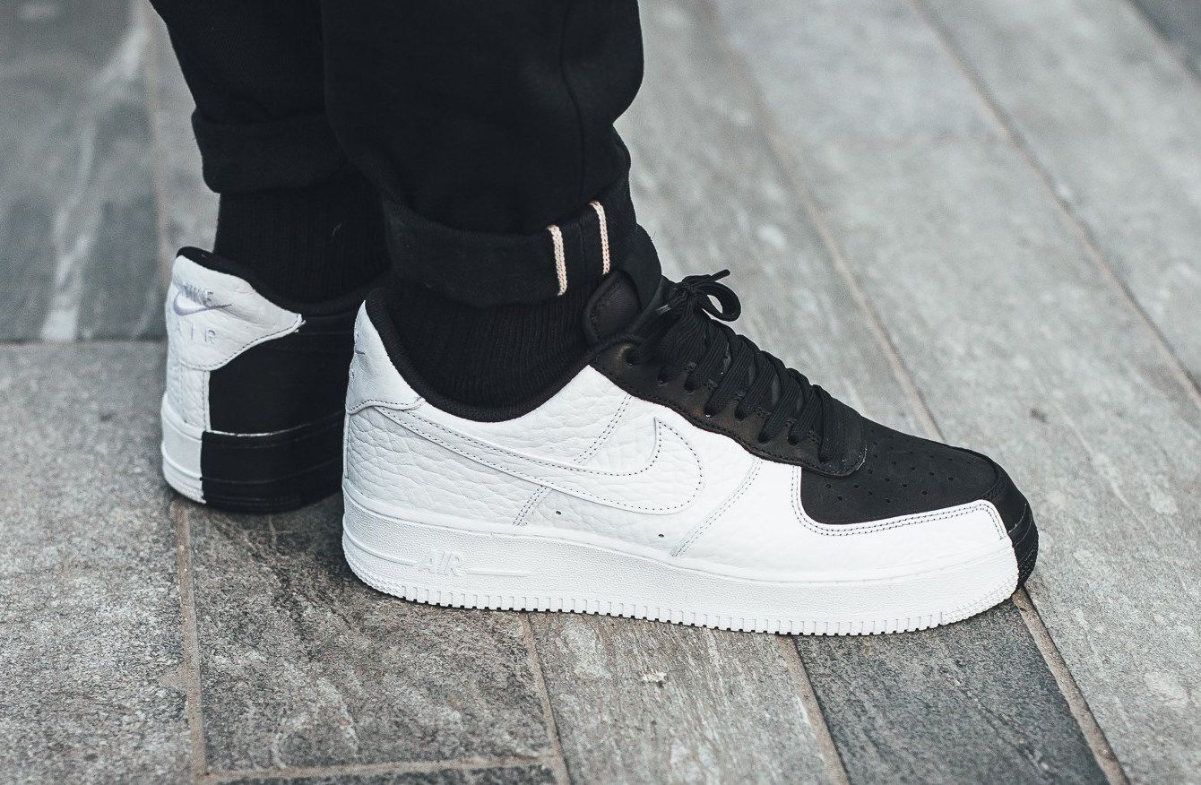size 40 cfe61 35491 Now Available  Nike Air Force 1 Low Split Black White