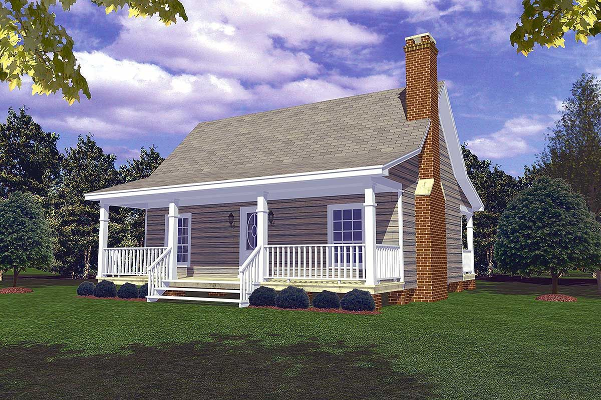 Tiny homes cottage country - Plan 5153mm Cozy Cottage Retreat