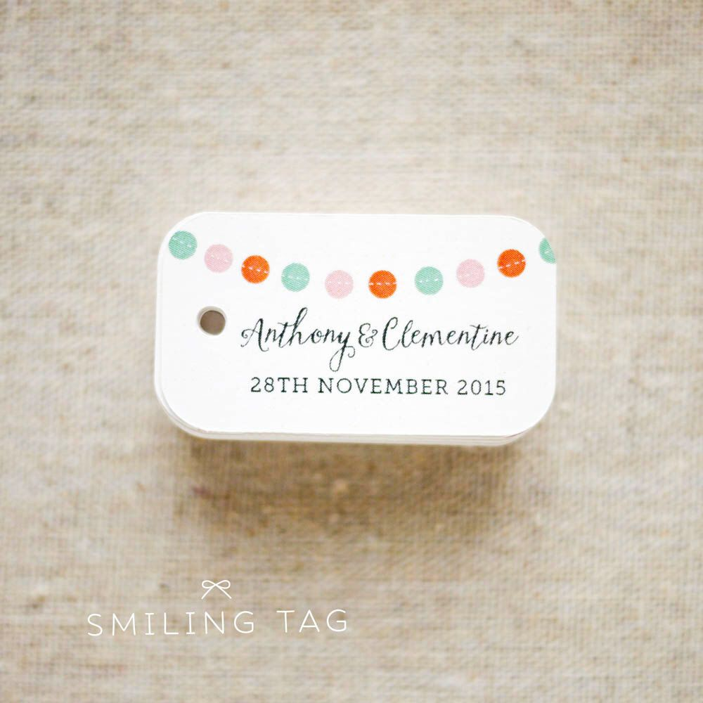 With Thanks Celebration Bunting Banner Personalized Gift Tags ...
