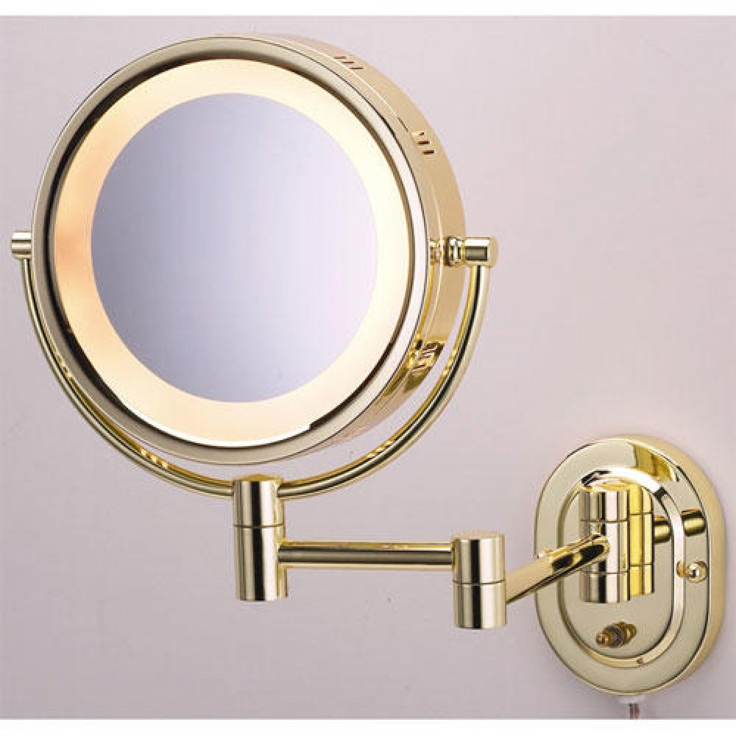 Swinging lighted wall mirror images 341