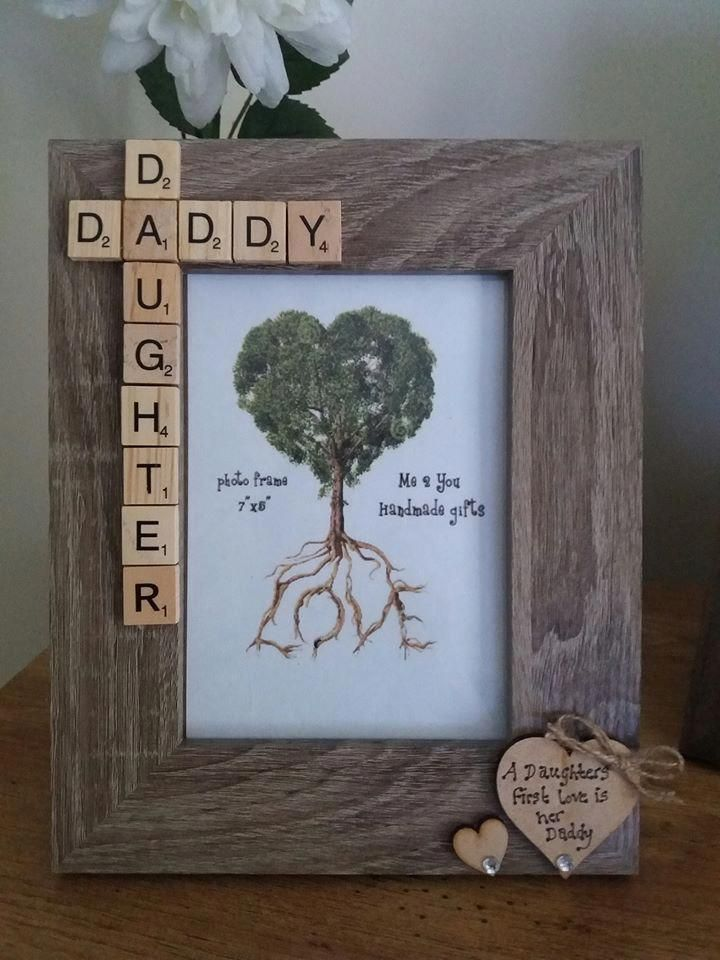 Daddy daughter photo frame fathersday fathers day diy