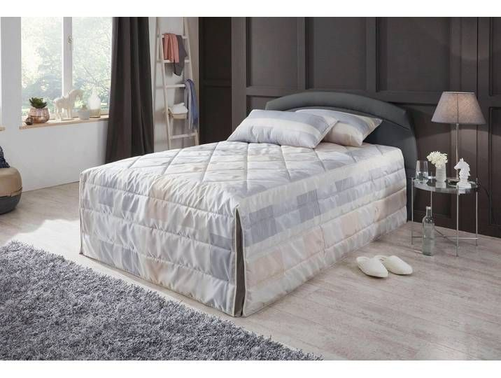 Photo of Westfalia sleeping comfort upholstered bed, black, Bonnell spring mattress