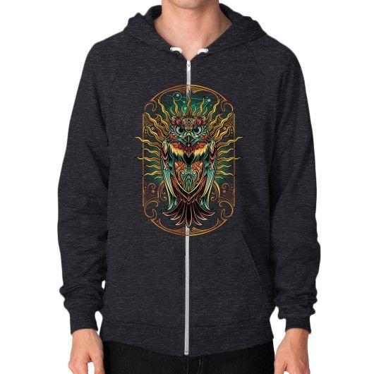 S'Owl Keeper Zip Hoodie (on man)