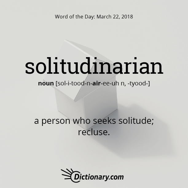 solitudinarian | Words | Word of the day, Words, Writing words