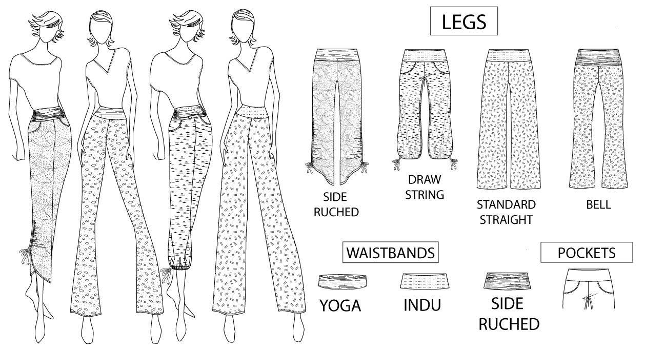 feff9c262a Shakti Jersey Pants Sewing Pattern (PDF) | Clothing patterns ...