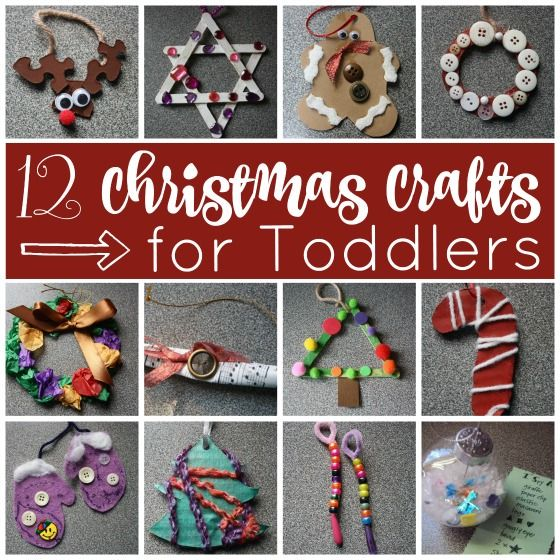 12 Easy Christmas Crafts for Toddlers  Easy christmas crafts