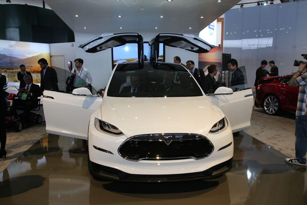 Tesla Model X live photos 2013 NAIAS