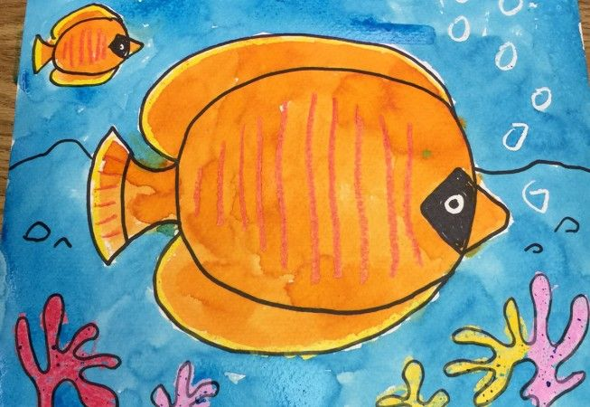 Fish Tropical Fish Art Watercolor Art Lessons Kindergarten Art