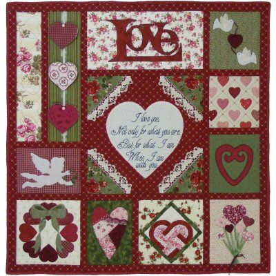 How Do I Love Thee ~ Let Me Sew You the Way Quilt Pattern http://www.victorianaquiltdesigns.com/VictorianaQuilters/PatternPage/HowDoILoveThee/HowDoILoveThee.htm #quilting #hearts #wedding
