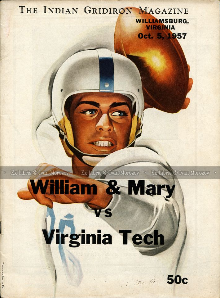 1957.10.05. Virginia Tech (Hokies) at College of William