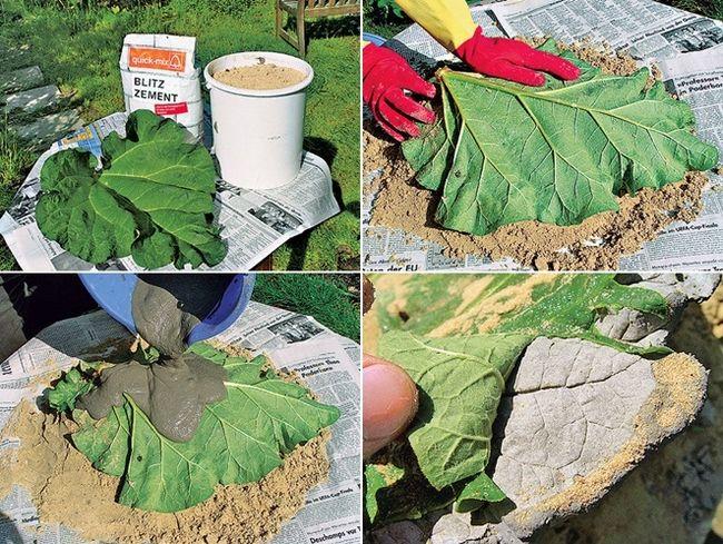 Diy Concrete Leaf Bird Bath Diydrywalls Org