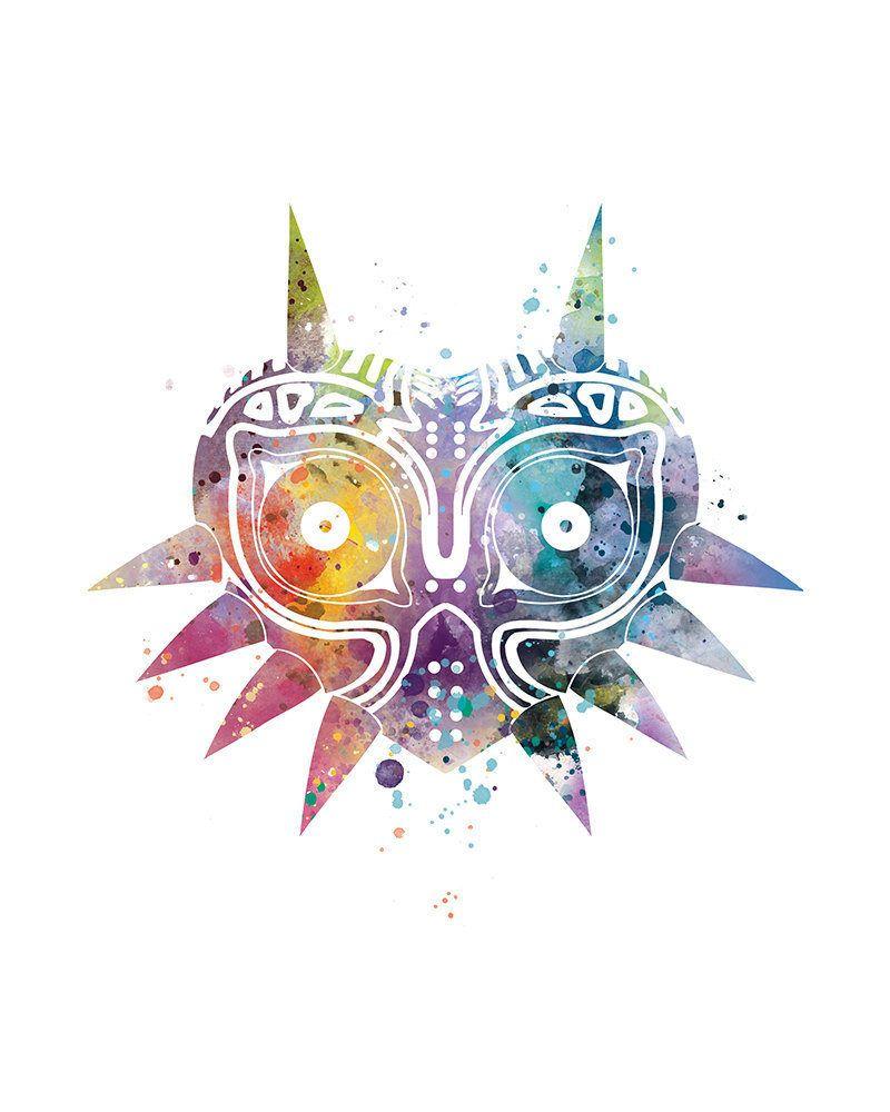 Majora\'s Mask Legend of Zelda Print Zelda Game Poster Abstract ...