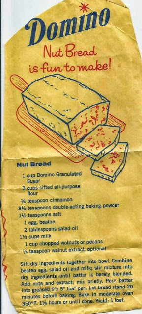 Aunt B Simply Living: Domino Nut Bread