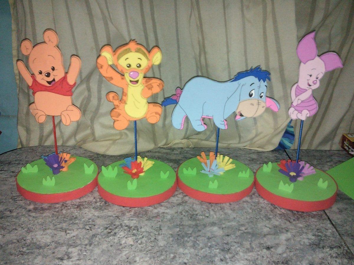 Cumplea os winnie pooh en goma eva centros de mesa - Cumpleanos de bebes ...