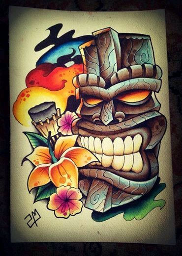 De Karl Tiki Tiki Tattoo Tattoo Designs Hawaiian Tattoo