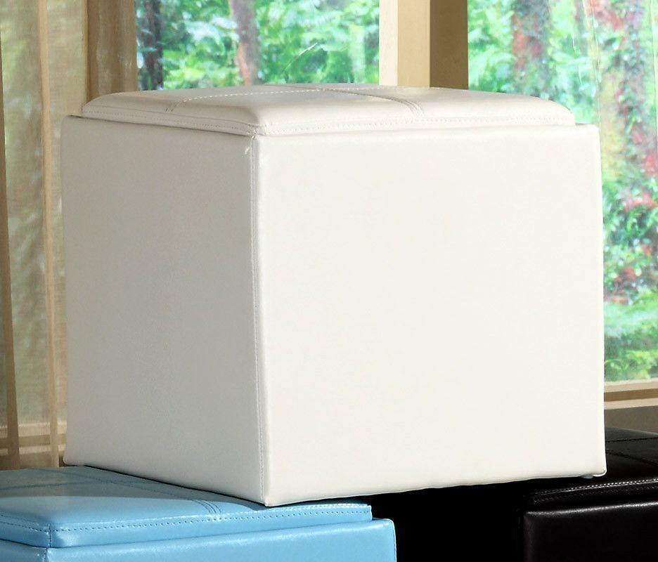 Homelegance 4723WT Ladd Storage Cube Ottoman