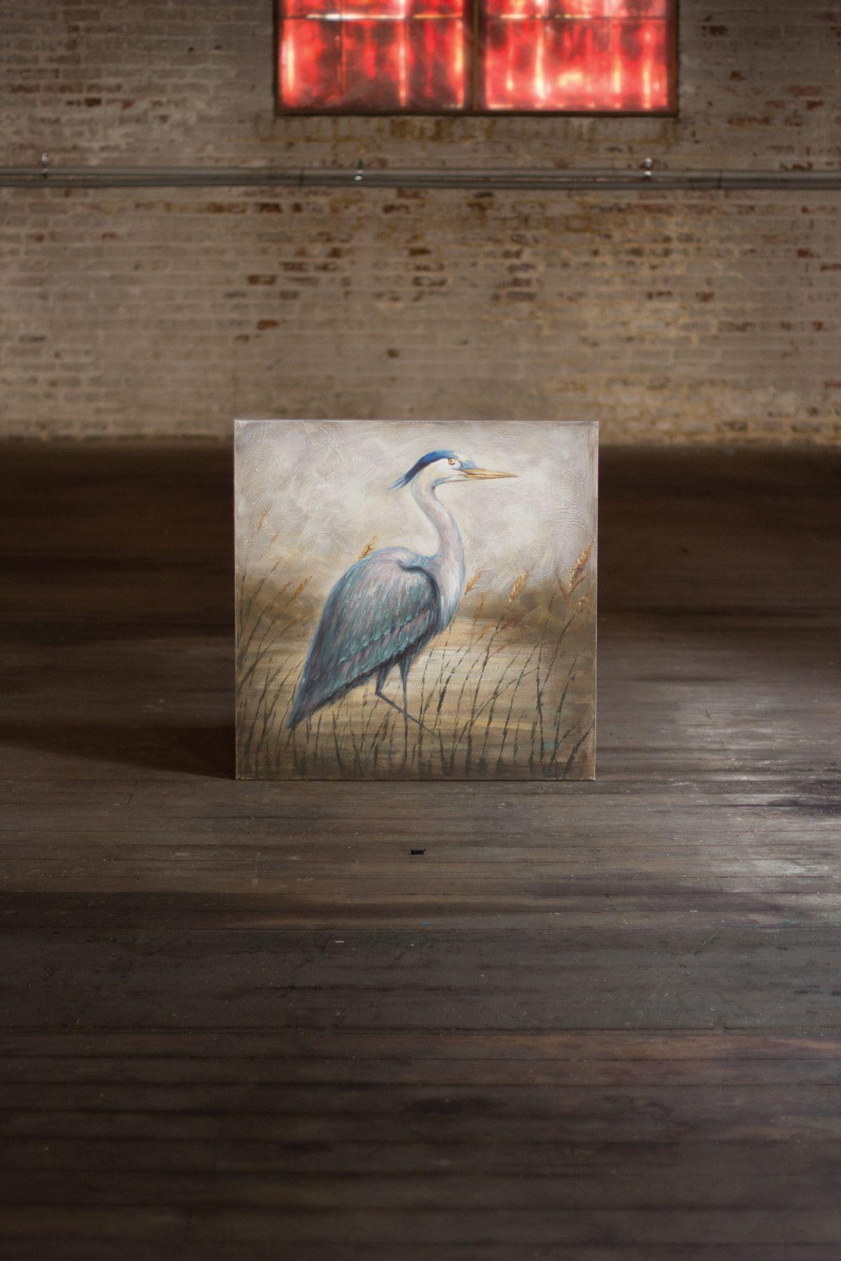 Kalalou Oil Painting - Blue Heron