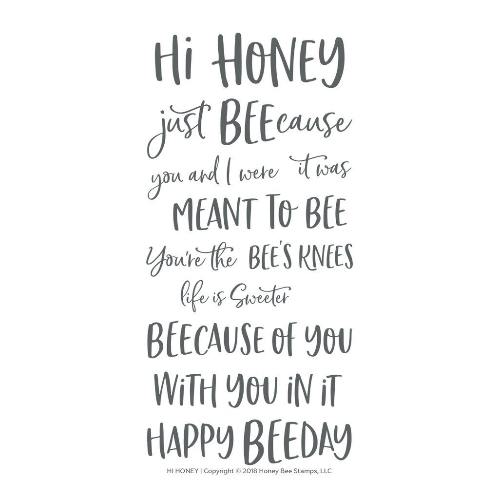 Hi Honey 4x8 Stamp Set Clear Stamps Honey Bee Stamps Stamp