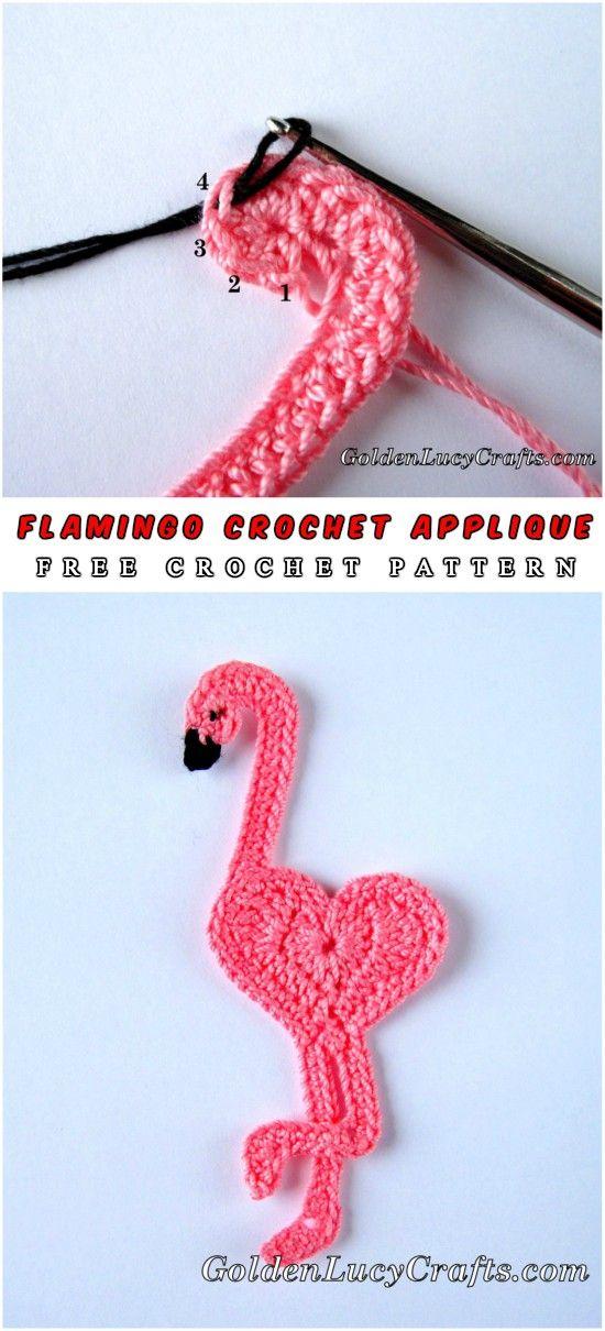 Flamingo Crochet Applique Dear Crochet Fans Today We Present Very