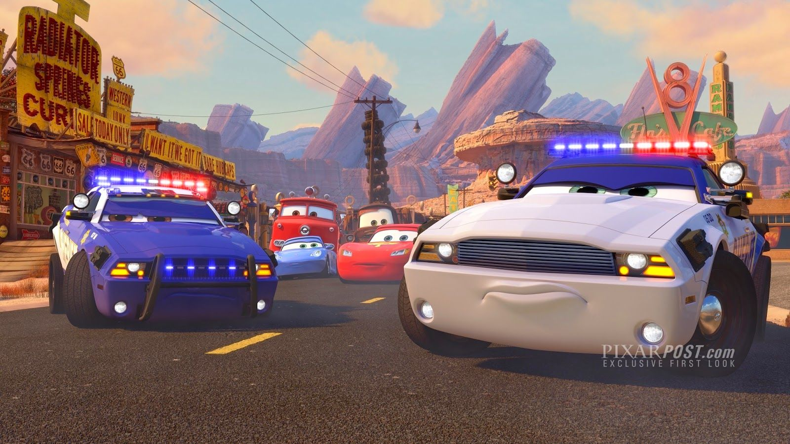 Exclusive first look at the upcoming cars toon to protect and serve http