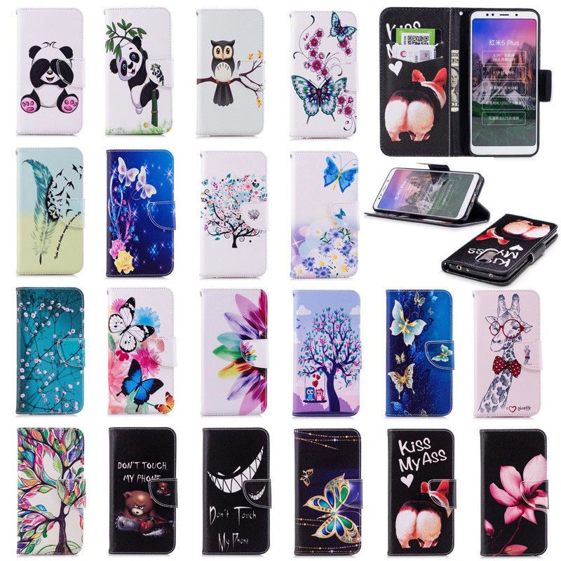 sports shoes 3f72d cbb72 $1.86 - For Xiaomi Redmi 5 Plus Note 4X 5 Pro Case Wallet Pu Leather ...