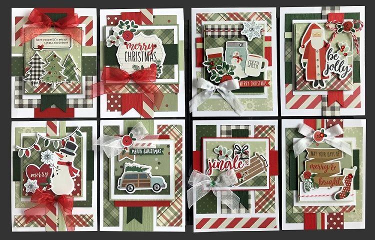 jingle card kit  kim's card kits  handmade greeting card