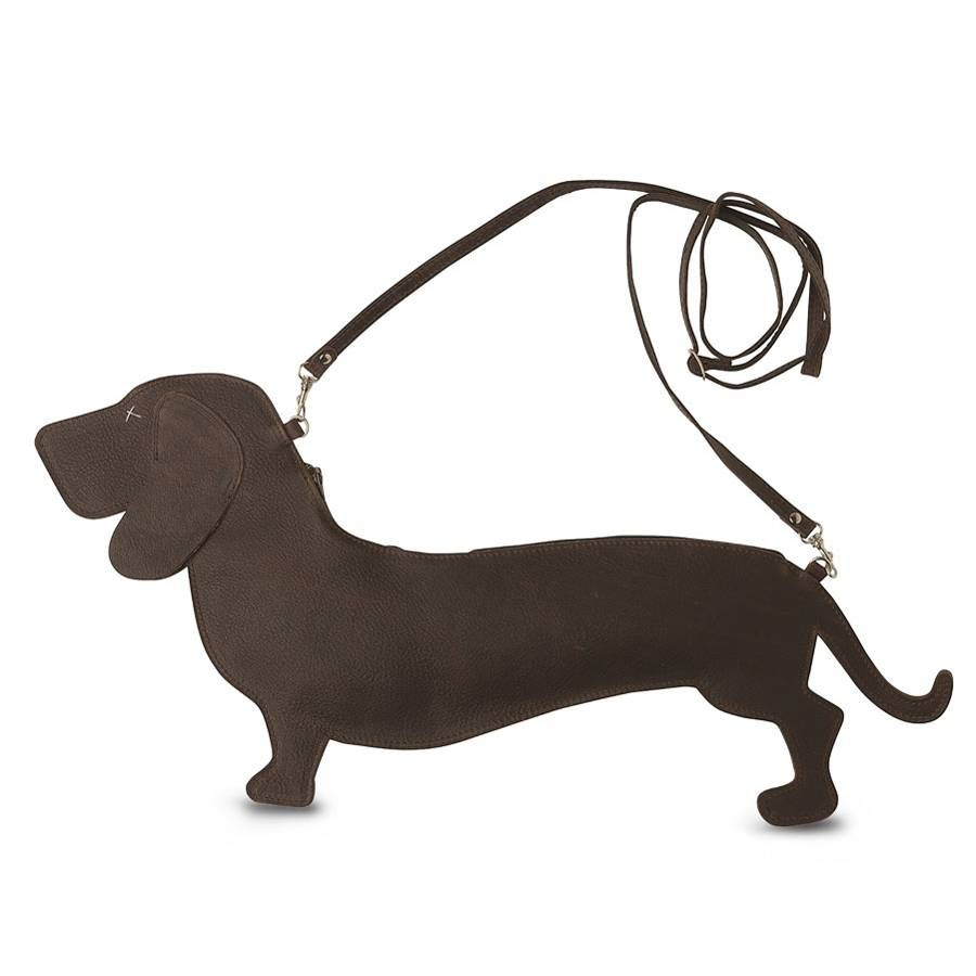 leather dachshund bag by lilac coast | notonthehighstreet.com