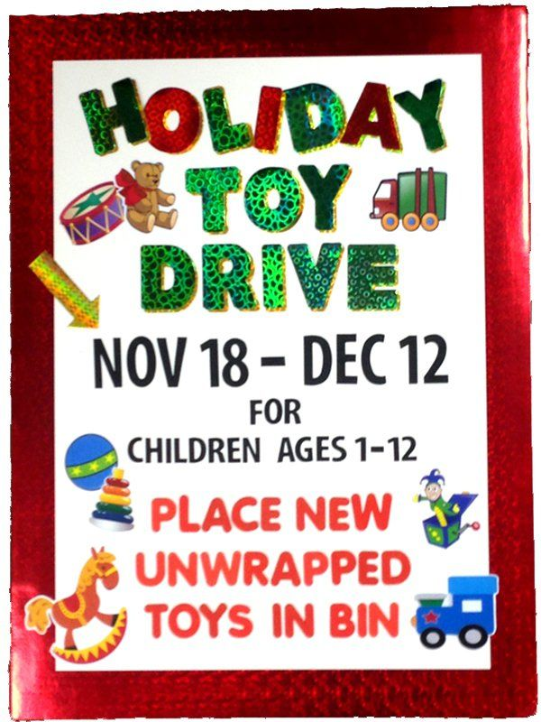 Create A Poster About Holiday Toy Drive Holiday Toy