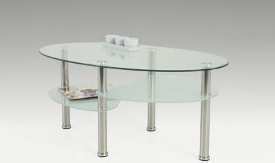 cats collection couchtisch glastisch mit ablageboden oval jetzt, Wohnzimmer