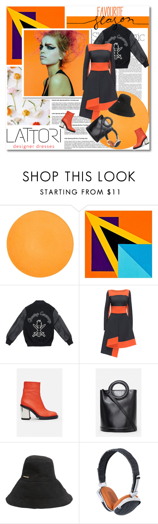 """""""Rock my dress babe - Lattori.com"""" by undici ❤ liked on Polyvore featuring Nicole, Universal Lighting and Decor, Opening Ceremony, Lattori, Dsquared2 and Frends"""