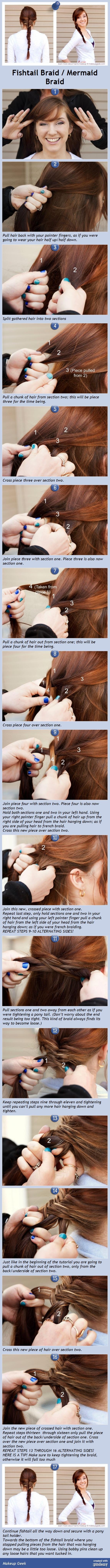 Fishtail Braid / Mermaid Braid tutorial