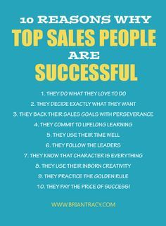 10 Reasons Why Top Sales People are Successful: Boost Your Sales