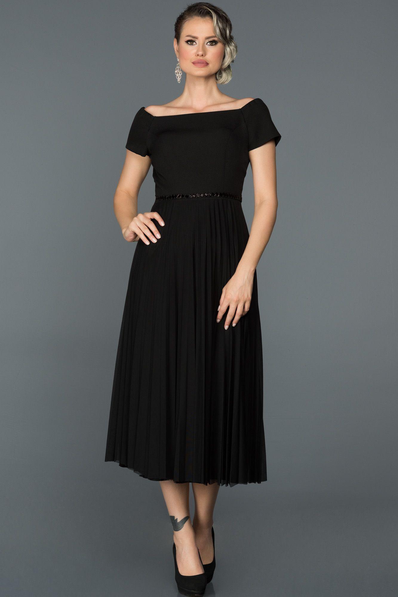 Siyah Midi Boy Sik Elbise Abk086 Elbise Elbise Modelleri The Dress