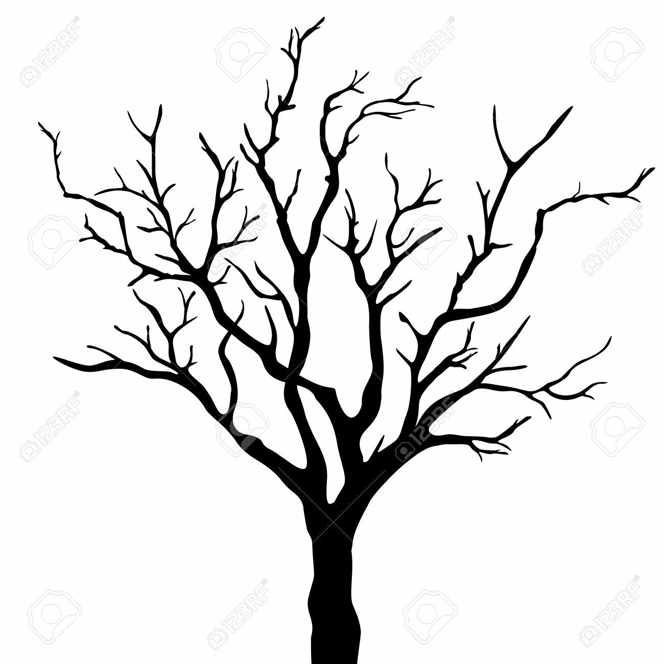 tree silhouette royalty free cliparts vectors and stock