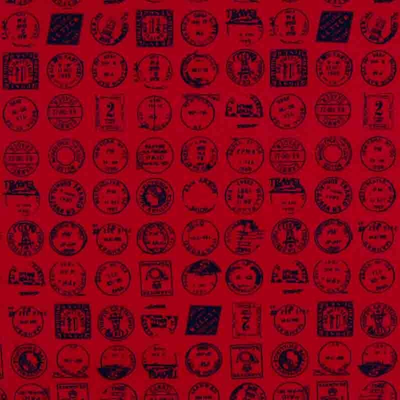 Stamps Cotton Red 112cm