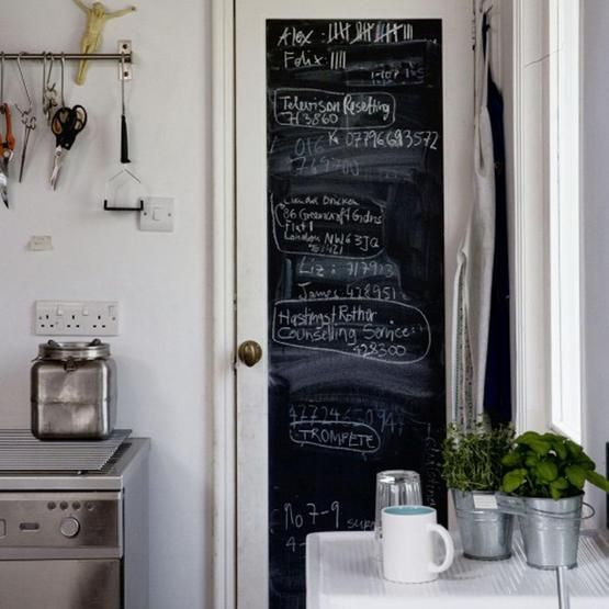 Tuesday: Chalkboard door to our kitchen