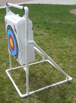 self standing archery target frame design pvc