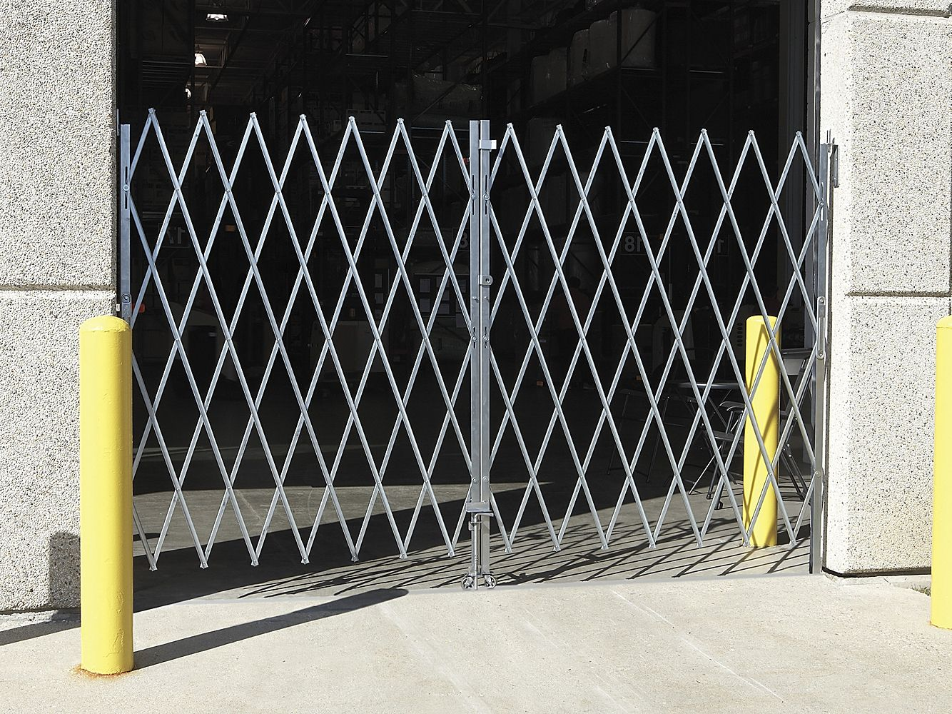 Folding Security Gate 10 12 X 6 H 2829 Uline Security Gates Steel Garage Doors Garage Door Security