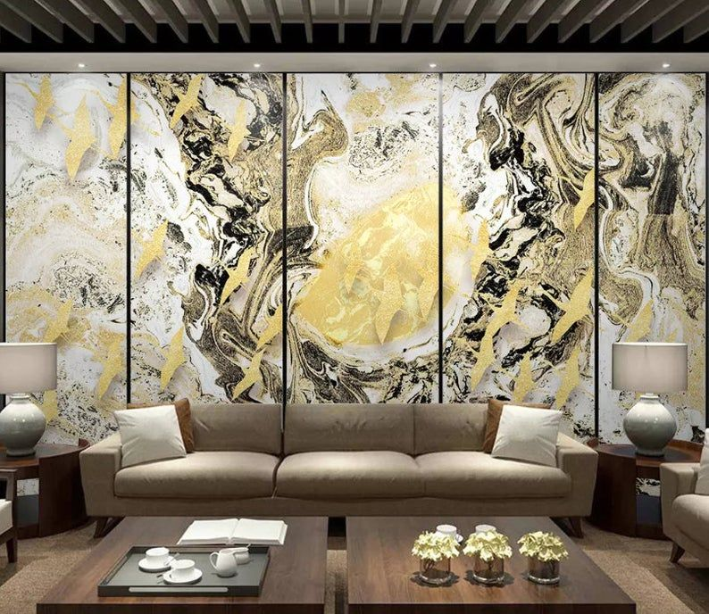 3D Chinese style, Abstract, Ink painting, Moon Wallpaper