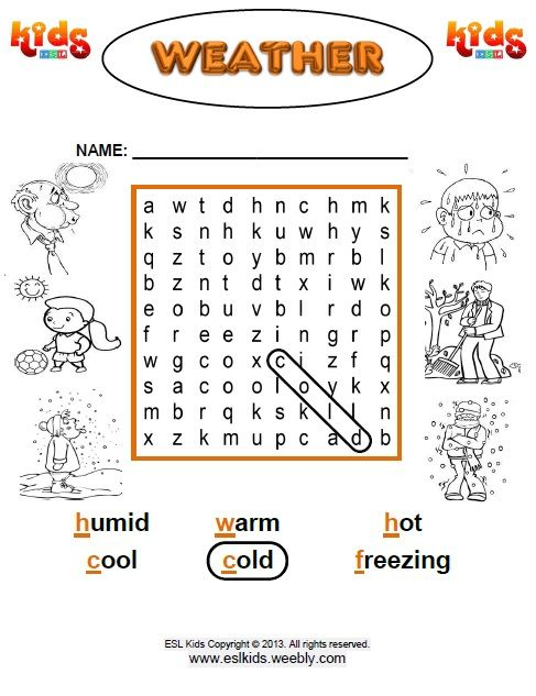 Pin By Eslkidz On Word Searches For Everyone Pinterest Weather