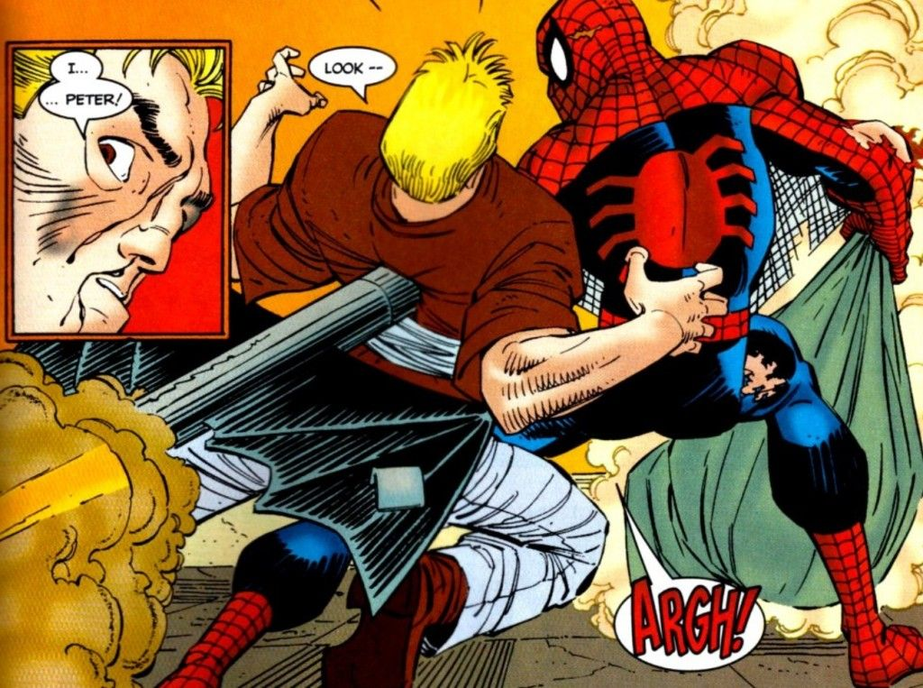 Spiderman Eats Hot Dog
