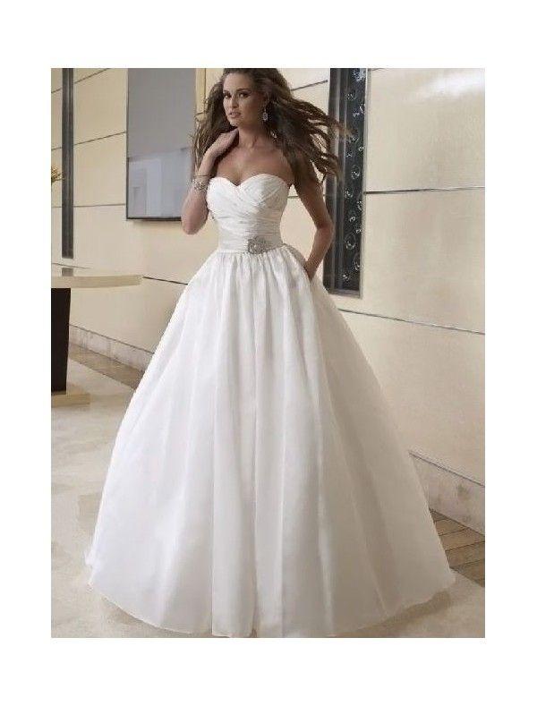 Taffeta Sweetheart Neckline Ball Gown 2 in 1 Wedding Dress with ...