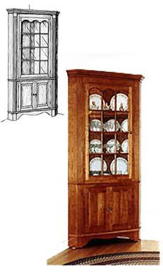 Colonial Corner Cabinet Plans This Is Almost Exactly What I D Like For The Dining Room