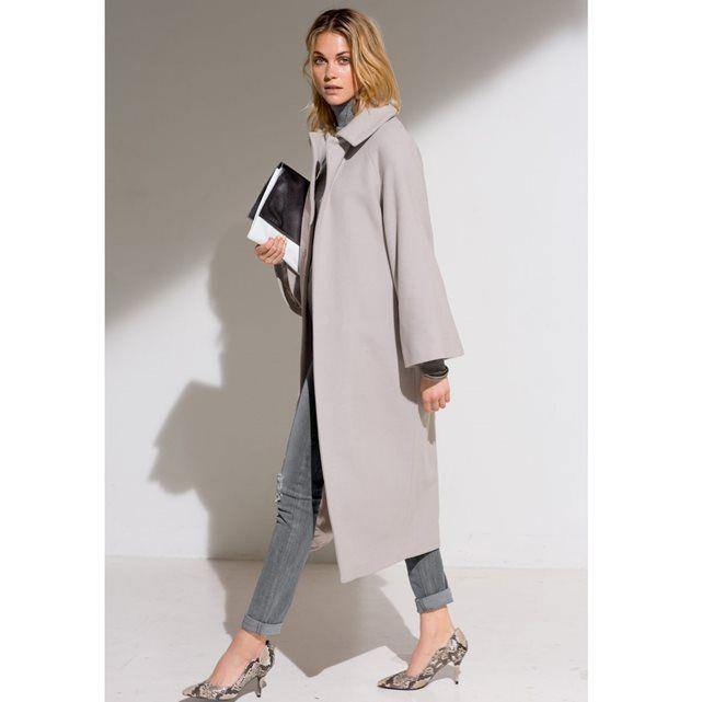 Manteau long 80% laine LAURA CLEMENT | Idées de mode, Coat