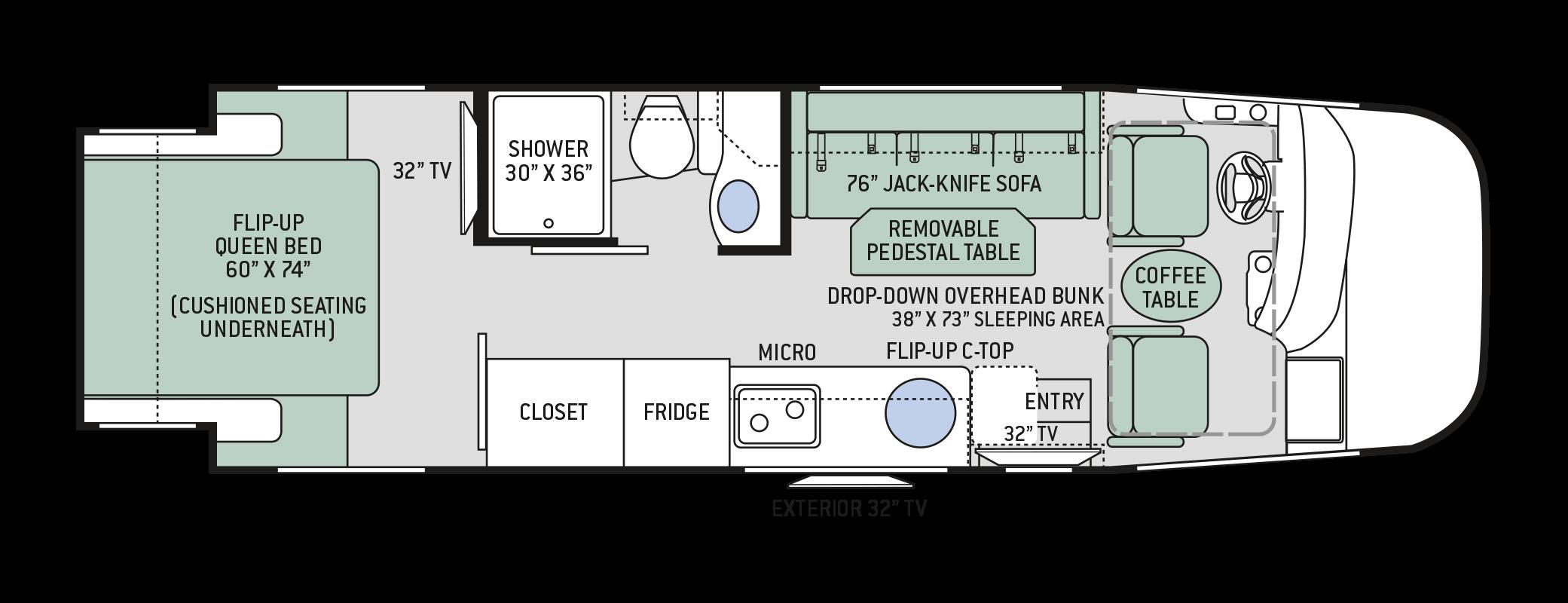 Floor Plans Vegas 25.2 Thor motor coach, Floor plans