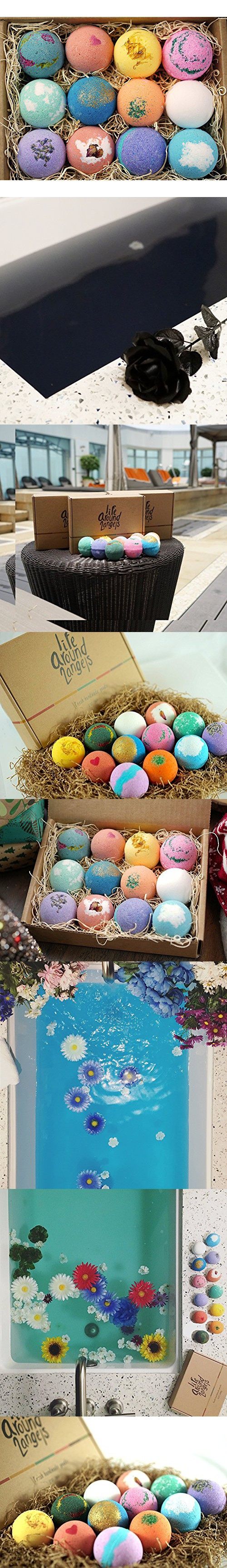 Lifearound2angels bath bombs gift set 12 usa made fizzies shea lifearound2angels bath bombs gift set 12 usa made fizzies shea coco butter dry skin negle Gallery