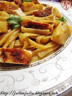 Chicken Artichokes Linguine باستا لينجويني الدجاج والخرشوف الأرضي شوكي Food Gout Recipes Artichoke Chicken