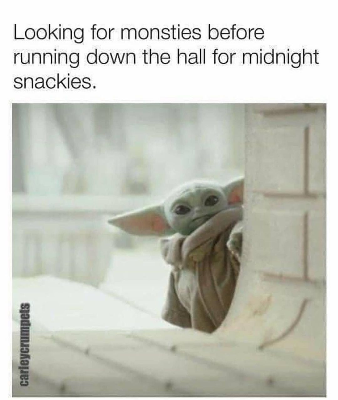 Baby Yoda On Instagram Got Up At 2am To Watch The Mandalorian Credit Carleycrumpets Follow Babyyoda I Am For More Cuten Yoda Funny Yoda Meme Yoda Images