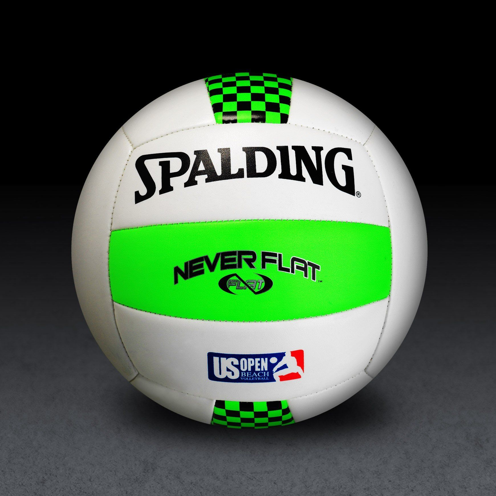 Spalding Neverflat Us Open Green White Volleyball All Volleyball Volleyballs Fun Sports